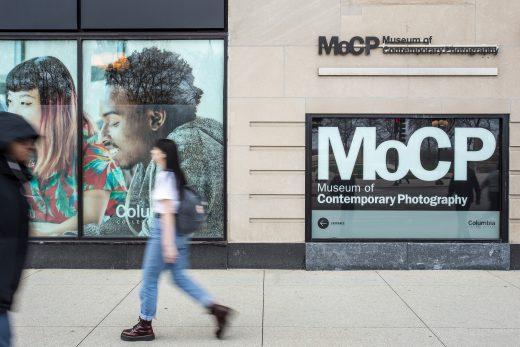 Photograph of the street level entrance to the Museum of Contemporary Photography.