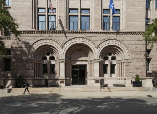 Photograph of the exterior of the Newberry Library in Chicago
